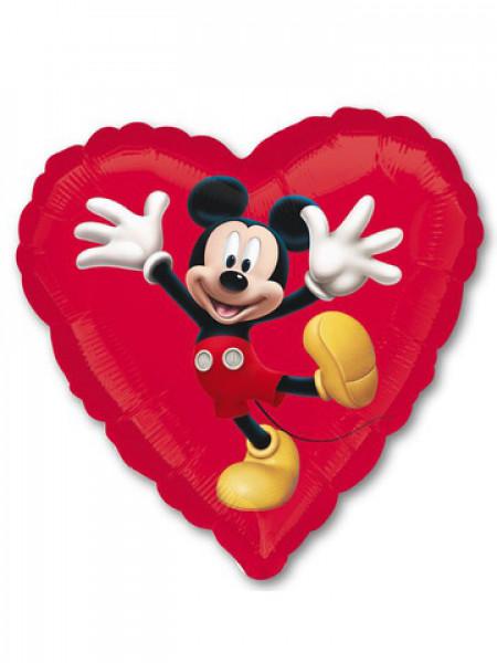 Фольгированное сердце Микки