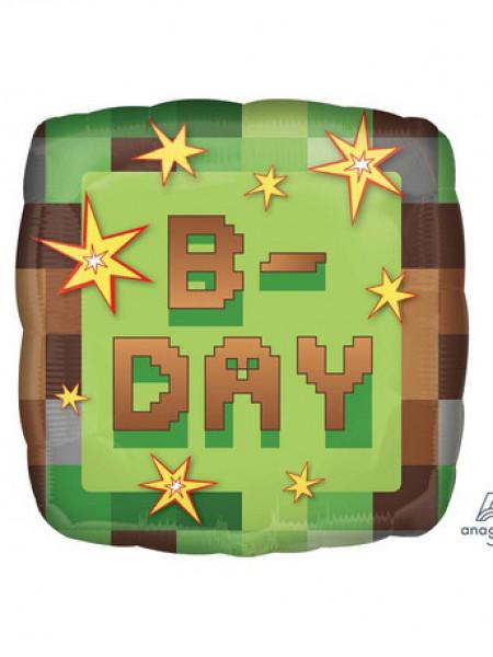 Фольгированный квадрат Party B-DAY