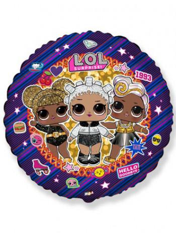 Фольгированный круг Кукла LOL