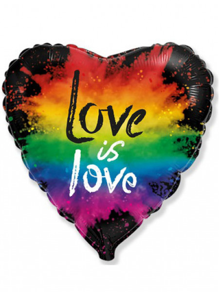 Фольгированное сердце LOVE IS LOVE