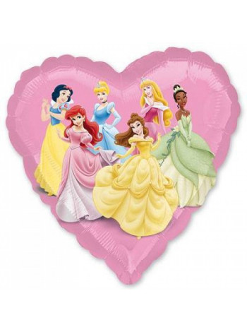 Фольгированное сердце Принцессы