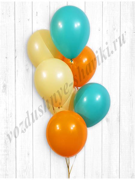 Воздушные шары тиффани-персик-оранжевый