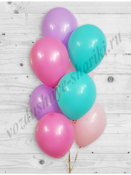 Воздушные шары розовый-фукси-сиреневый-тиффани