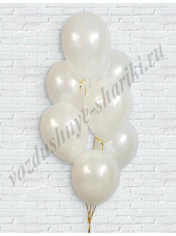 Белые шары металлик